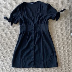 Nasty Gal Black Button up dress